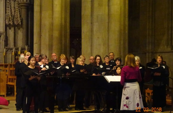 Singing in St Albans Cathedral